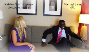 Michael Irvin and Katrina Starz