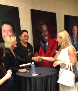 Kim and Robert Kiyosaki and Katrina Starz