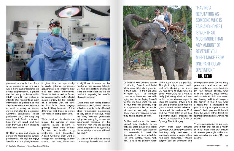 Dr Mahlon Kerr Worldclass Magazine