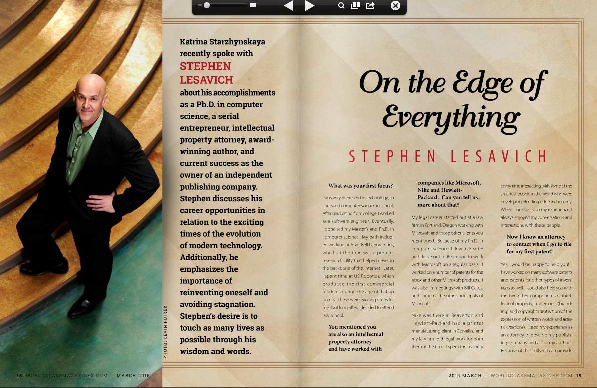 Stephen Lesavich | Worldclass Magazines