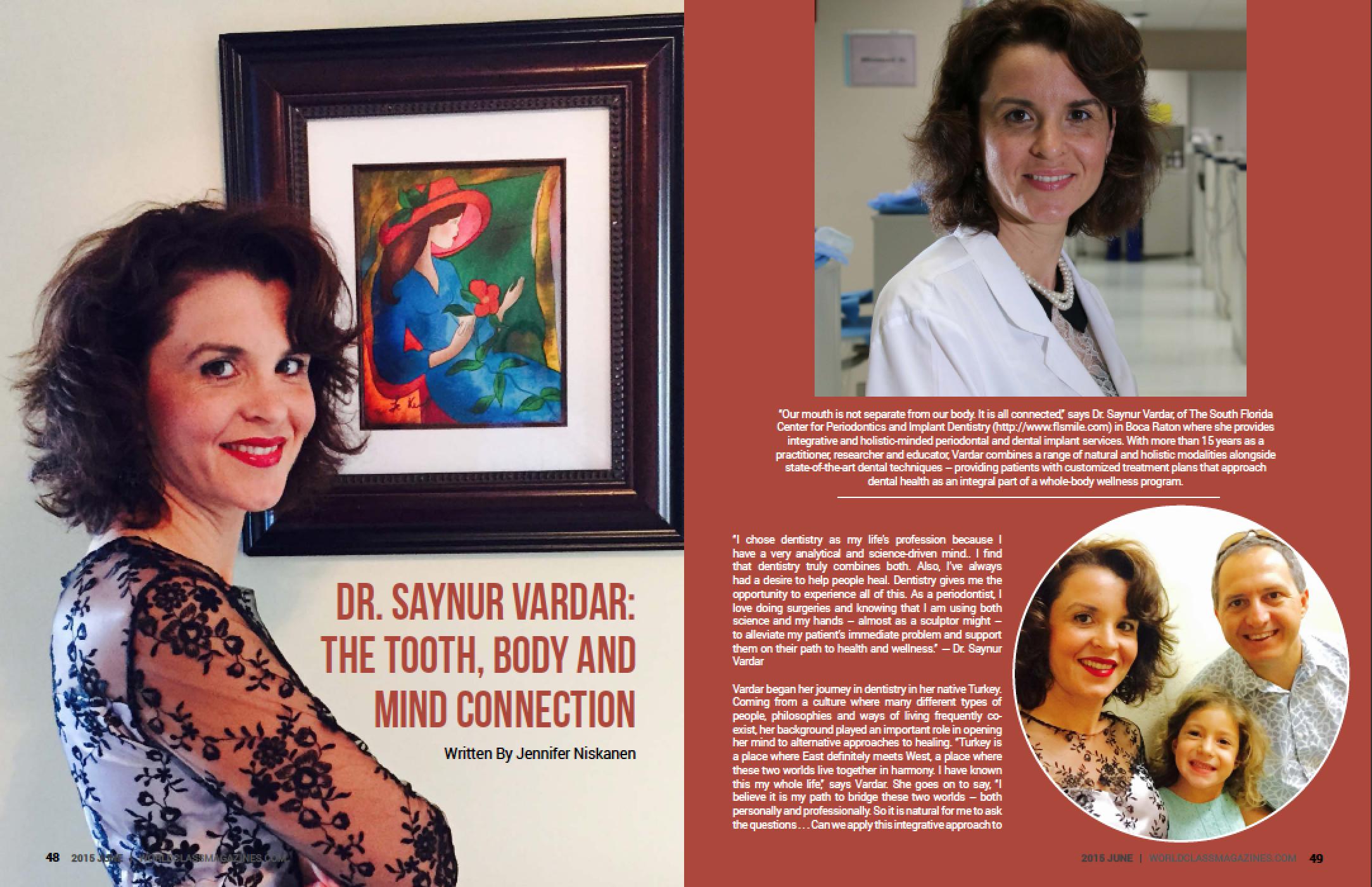 Dr. Saynur Vardar-Sengul | Worldclass Magazines