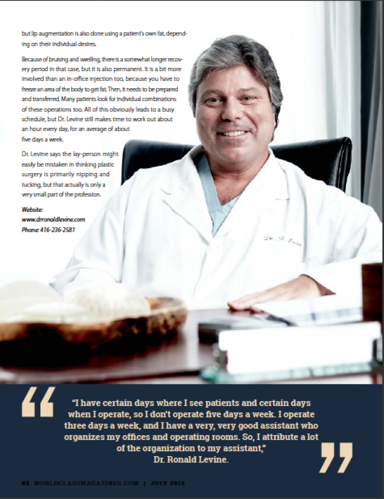 Dr. Ronal Levine | #WORLDCLASS Magazines