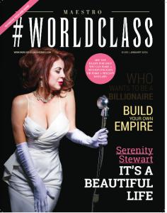 Serenity Steward Worldclass magazine